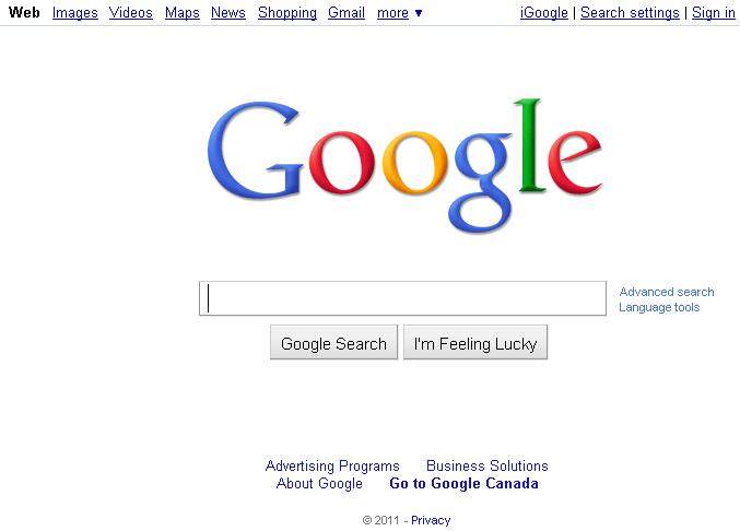 Canadians read, Americans shop, Everyone Googles (1/2)