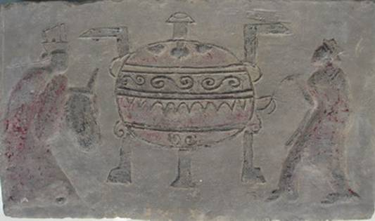漢代畫像石扛鼎,圖片來源:http://wuming.xuefo.netnr994123.html