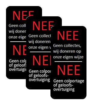 meerdere nee nee anti verkoop stickers