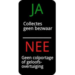 JA NEE colportage sticker