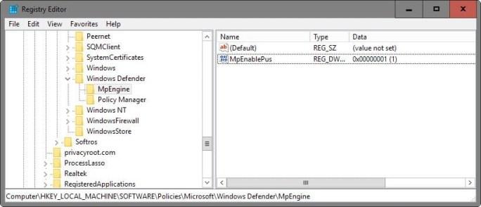 registry editor image pop up block