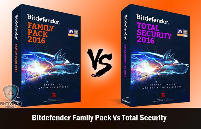 Bitdefender Family Pack vs Bitdefender Total Security