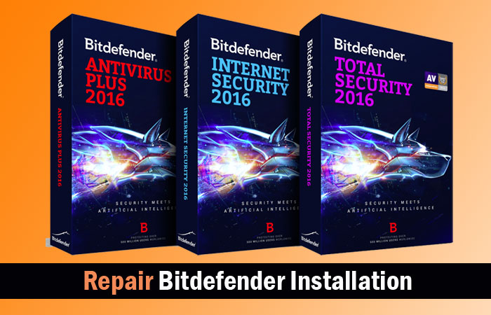 repair bitdefender installation