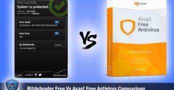 Bitdefender Free Vs Avast Free Antivirus Comparison