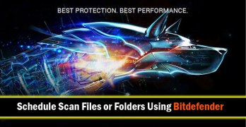 How to Schedule File/Folder Scan Using Bitdefender 2016