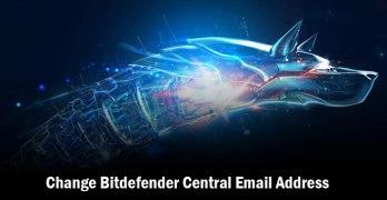 Change Bitdefender Central Email Address