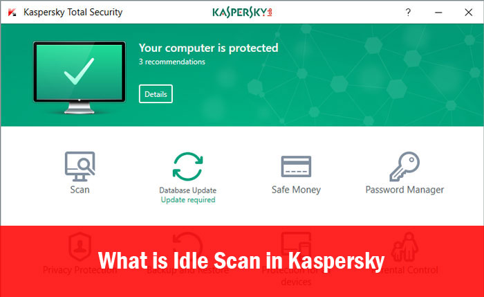 Idle Scan in Kaspersky