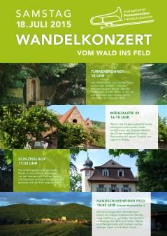 Wandelkonzert | Plakat