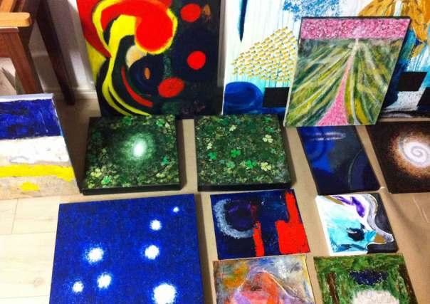 Målningar på gång