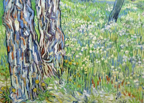 Tree Trunks in the Grass, april 1890, Van Gogh