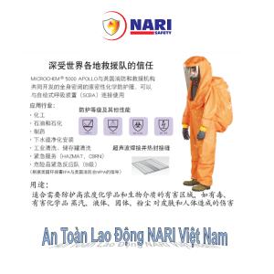bộ quần áo trong hóa chất microchem 5000