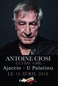 Antoine Ciosi en concert à Ajaccio