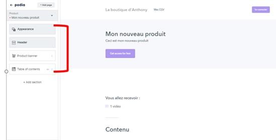 créer une page de vente en ligne avec podia comme antoine bm