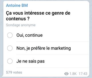 comment créer une formation en ligne via un sondage telegram