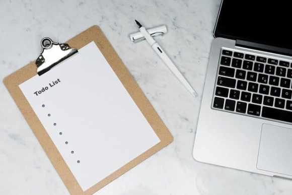 utiliser une liste de tâches pour être plus productif