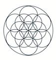 Logo Seed of Life. Life Balance. Peace. Life Coach