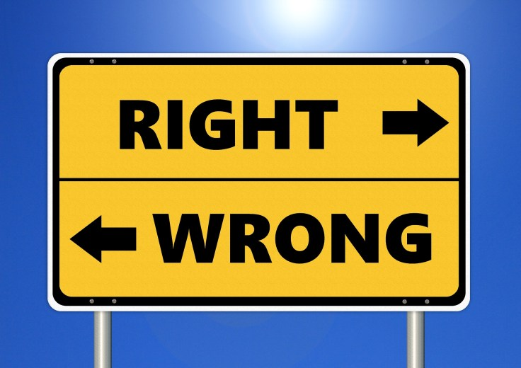 Right or wrong direction