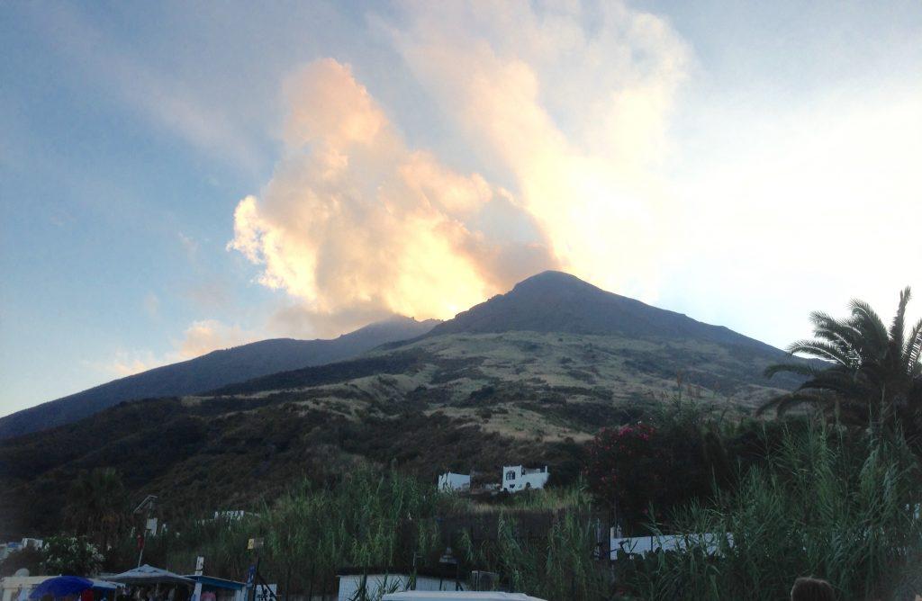 Active Volcano in Stromboli, Aeolian Islands, Sicily