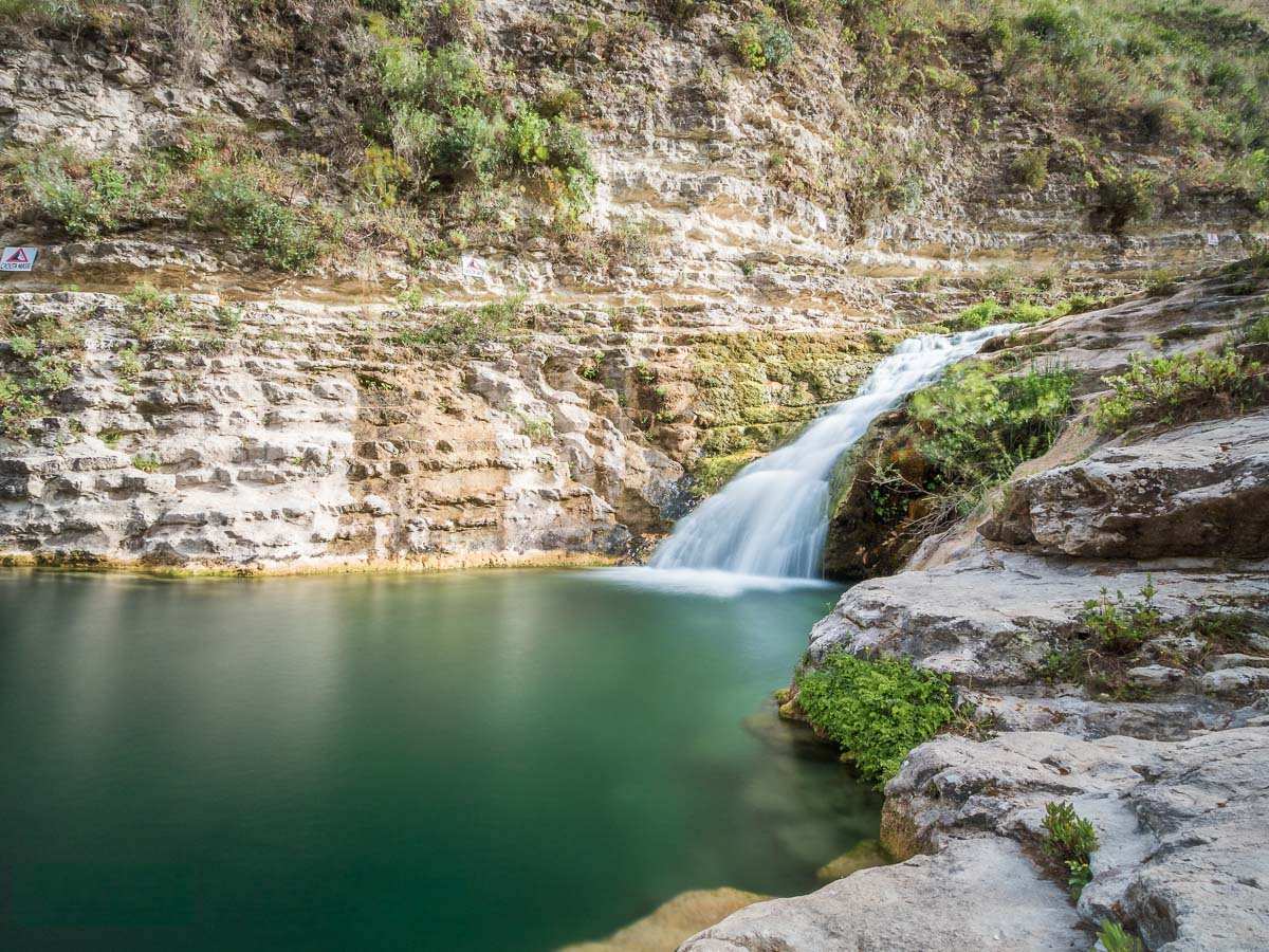 Cavagrande del Cassabile in Sicilia- Cascading pools of crystal clear water in SIsily