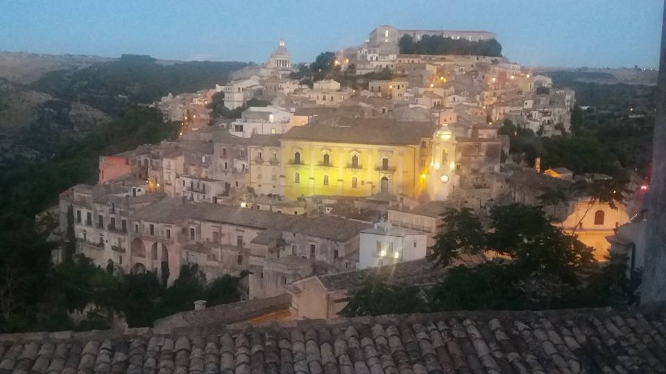 Ibla, Ragusa old baroque tow in Sicily, by night