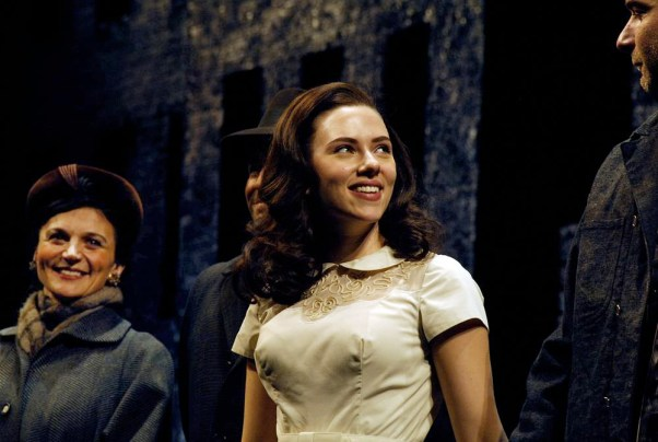 as Mrs. Lipari with Scarlett Johansson and Liev Schreiber in Broadway revival of A VIEW FROM THE BRIDGE, directed by Gregory Mosher