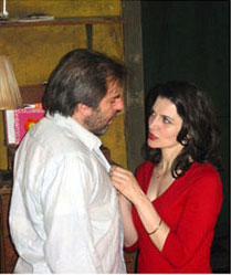 as Liz with Joe Passaro in Keith Reddin's ALMOST BLUE, directed by Hal Brooks