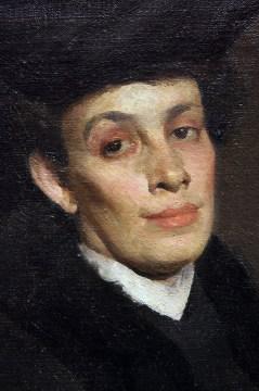 Detail -- Gospođica u crnom (Woman in Red), 1907.