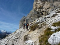 Approach to Lagazuoi Tunnels, Cortina Dolomites