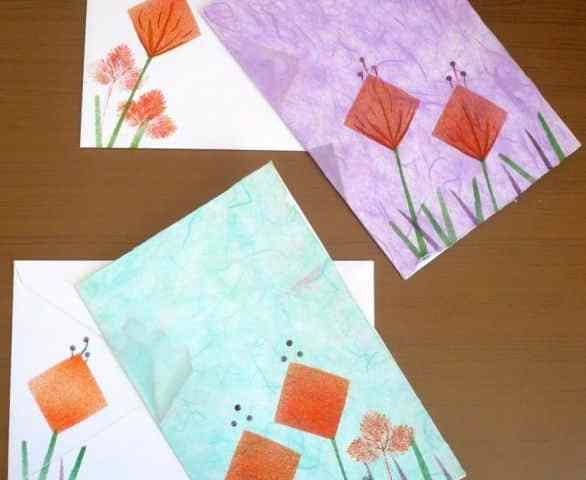 Cartoline monotipia e Nature printing