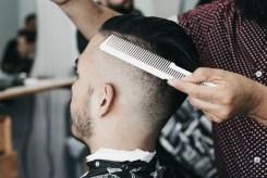 Comb and scissors.