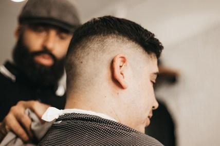 Clean and classic barber cut.