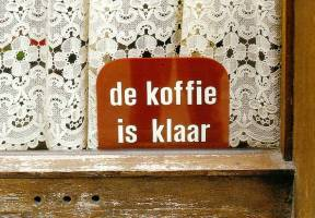 """Coffee is Ready"" sign"