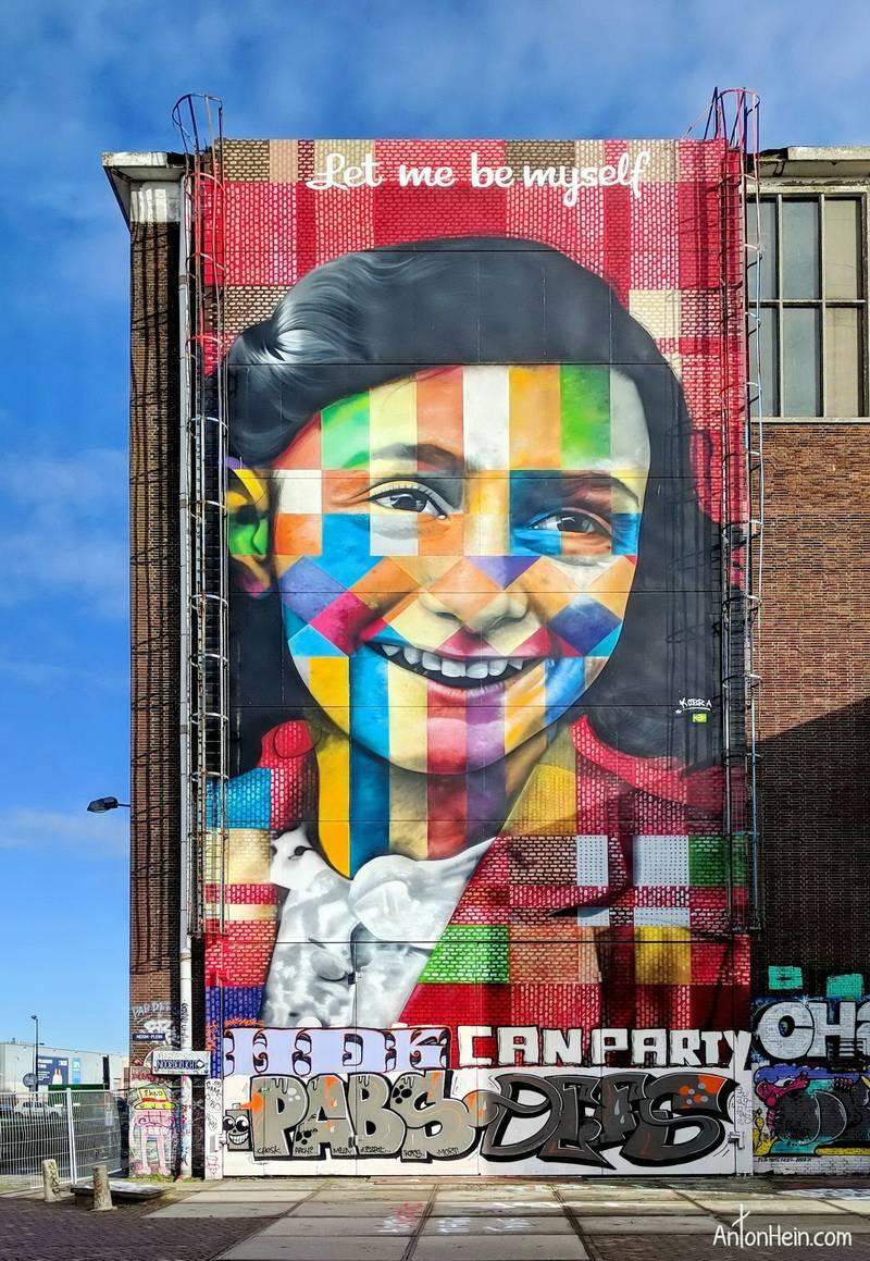 Anne Frank Mural by Eduardo Kobra