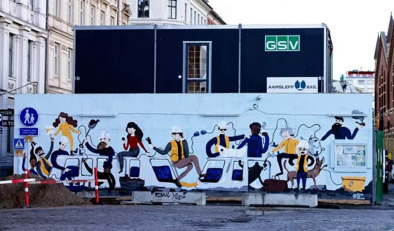Mural in Copenhagen