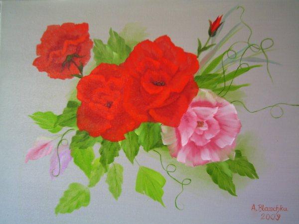 Antonie S Malerei Blumen Nach Annette Kowalski