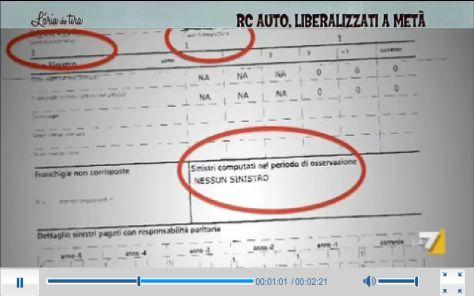 Un frame dell'inchiesta andata in onda su La7