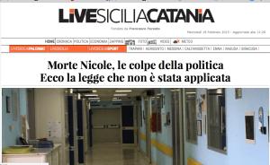 NICOLE UCCISA DALLA POLITICA