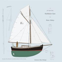 Kathleen Gee, Cutter Sail Plan 2k