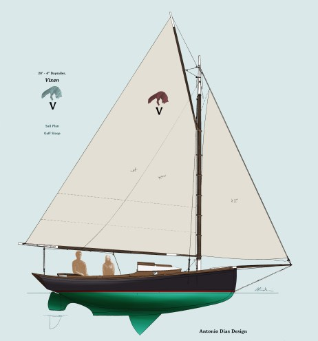 Vixen Sail Plan Illustration