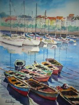 Puerto de La Coruña, 35x50 80 €