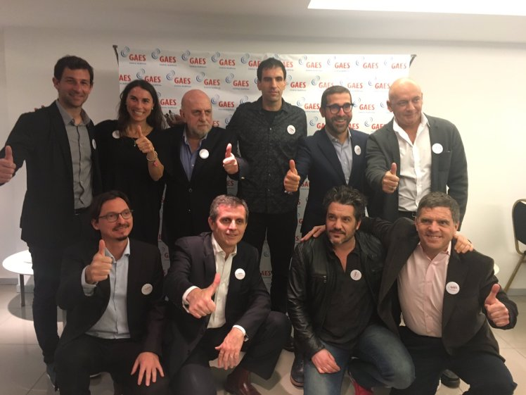 Los miembros del jurado de Argentina que acudieron al acto de presentación