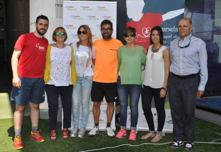 Representantes de GAES Te Cuida y GAES Solidaria junto a la Fundación Cors Units