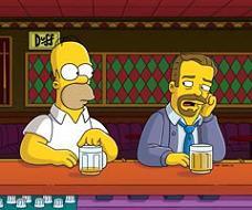 Ricky Gervais e Homer Simpson