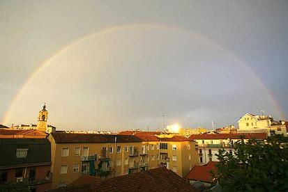 Arcobaleno su Milano
