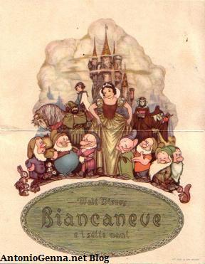 "Una cartolina pubblicitaria di""Biancaneve"""