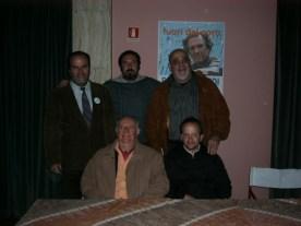 Con Dario Fo e gli amici di IDV Siena