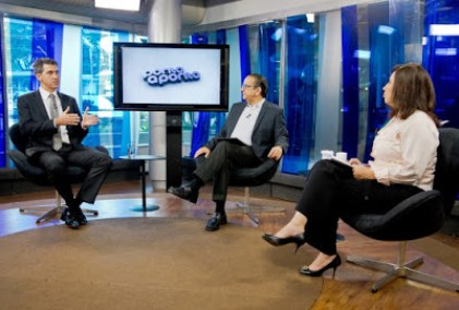 Antonio Lavareda e Mônica Bergamo entrevistam Vitore Maximiano
