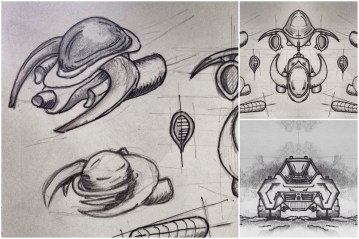 ALG Concept Sketches - The SpaceShips A_00 Series : Visual 2D and 3D Development of a Comic Space Battle Mission by ALG [Teaser Shots] img_006