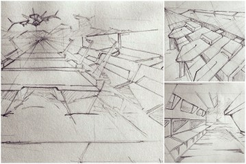 ALG Concept Sketches - The SpaceShips A_00 Series : Visual 2D and 3D Development of a Comic Space Battle Mission by ALG [Teaser Shots] img_007