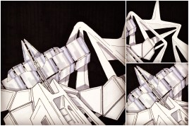ALG Concept Sketches - The SpaceShips A_00 Series : Visual 2D and 3D Development of a Comic Space Battle Mission by ALG [Teaser Shots] img_021
